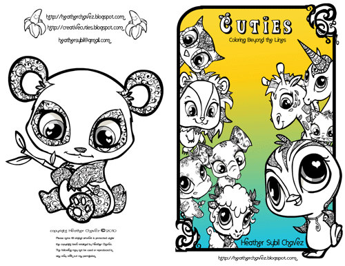 Cuties' Free Animal Coloring Pages title=