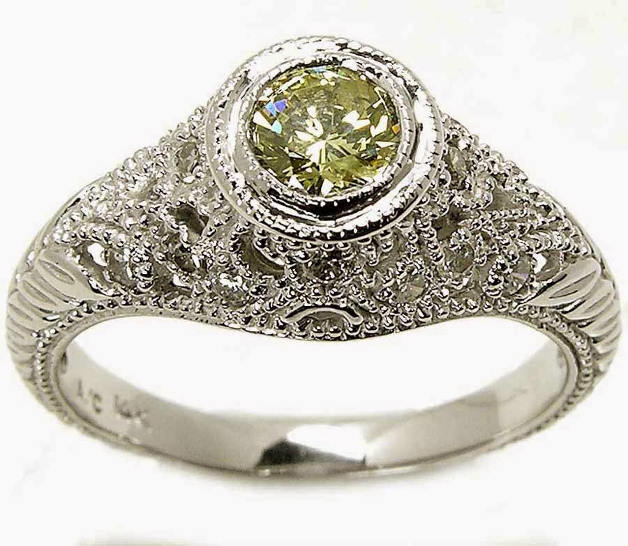 Yellow Diamond Engagement Ring Tiffany for Women Model pictures hd