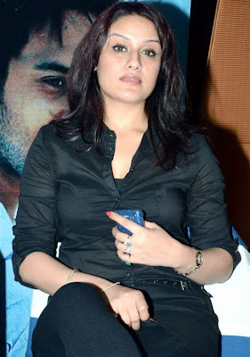 Sonia Agarwal Hot Black Shirt at Vaanam Audio Function