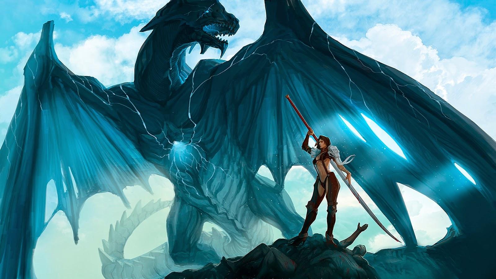 Giant Dragon Beast HD Wallpaper - Free Wallpaper HD