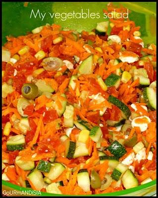 image 1 JOUR = 1 SALADE**** : My vegetables salad
