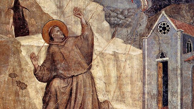 Francisco, Cristo crucificado e a restauração da Igreja
