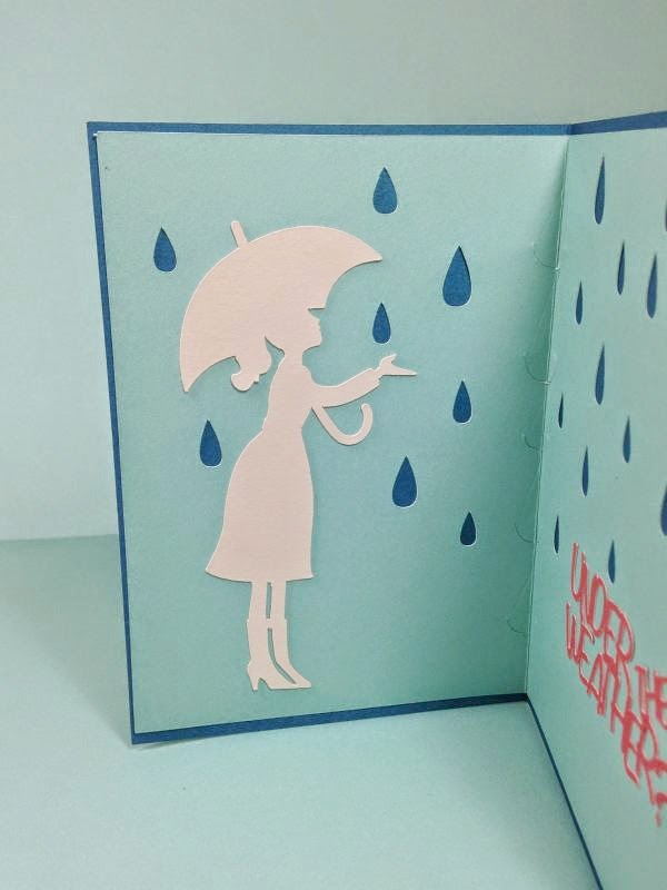 Close To My Heart Artfully Sent Cricut Cartridge Umbrella card inside