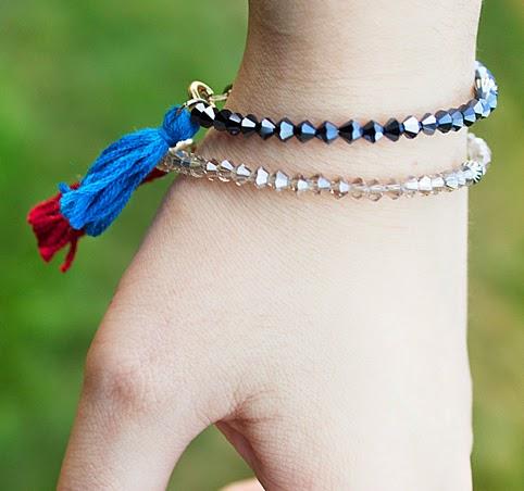 image tutorial diy roundup crystal tassel bracelet delicate