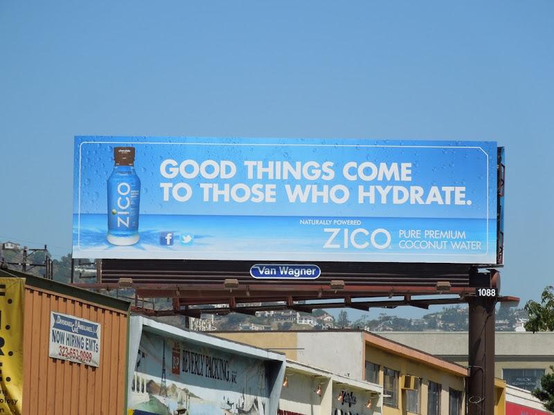 Good things hydrate Zico billboard
