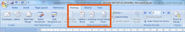Mail Merge Excel ke Word