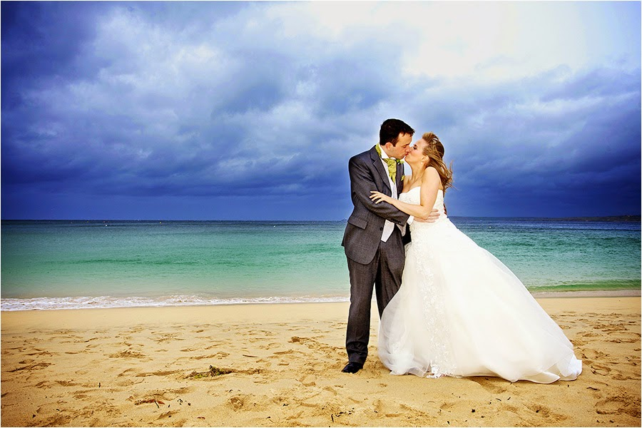 beach wedding photography st ives