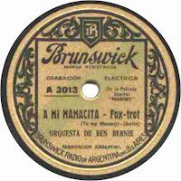 A Mi Mamacita - Orquesta Ben Bernie
