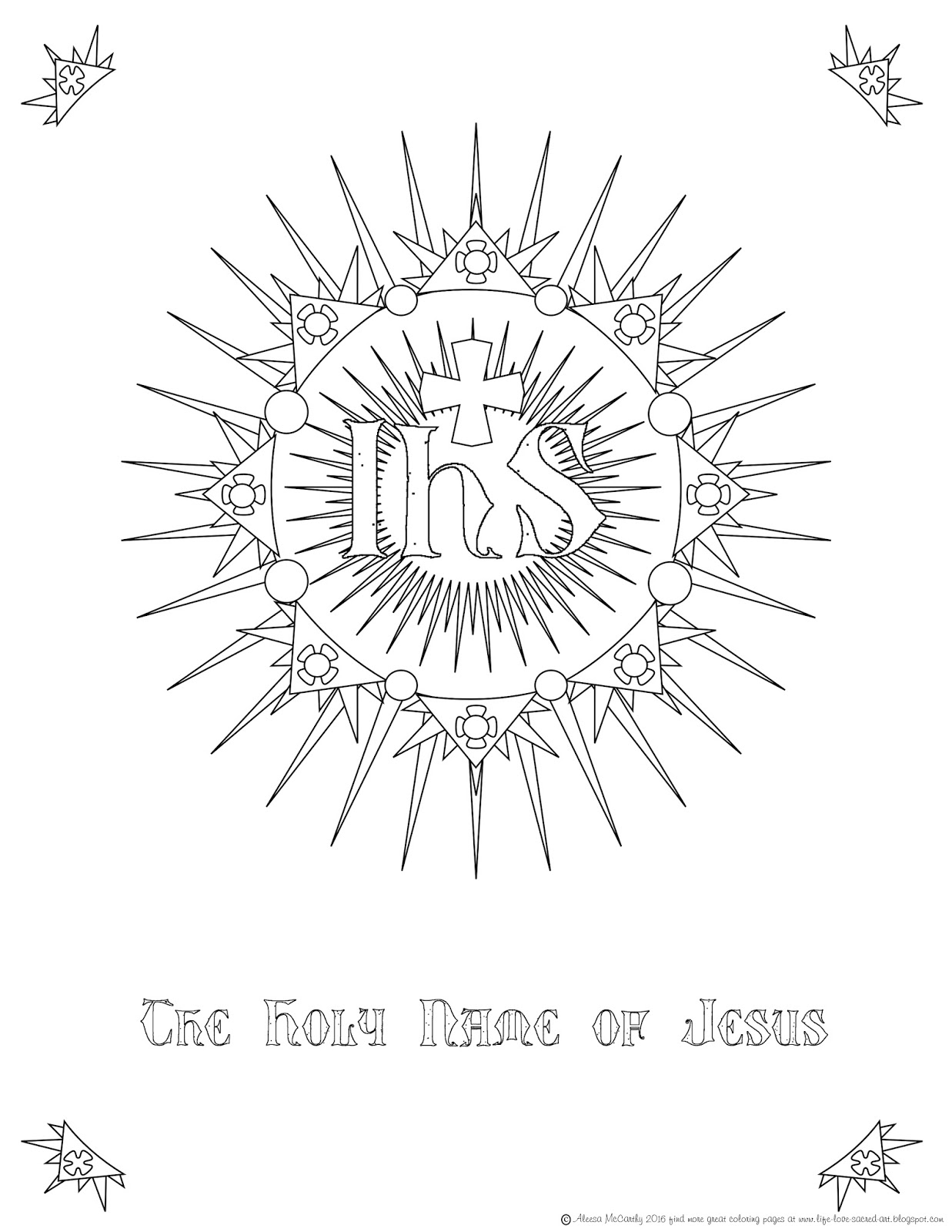 life love u0026 sacred art the holy name of jesus free coloring page