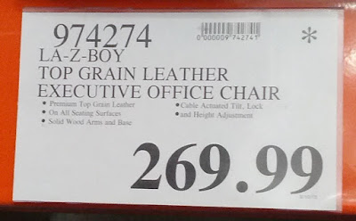 Deal for the La-Z-Boy Browning Leather Executive Office Chair at Costco