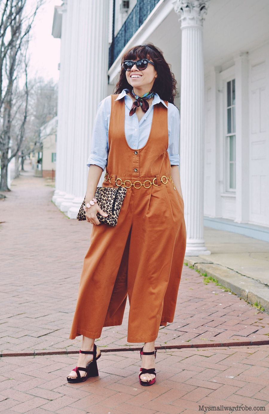Jumpsuit culottes street style