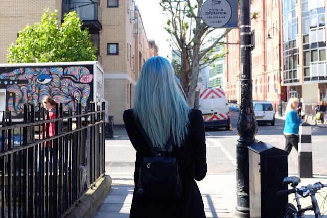 Camden London blue hair