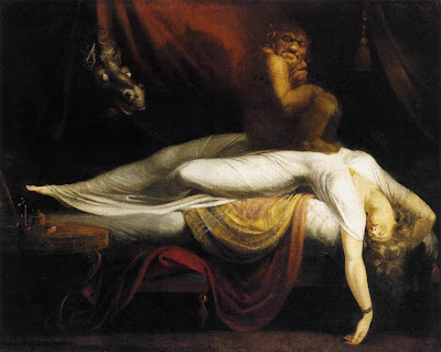 """La razón solo se sirve de los hallazgos del sueño (""""Pesadilla"""", Henry Fuseli, 1781)"""