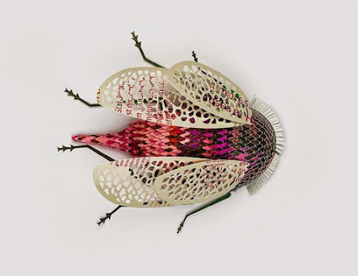 paper art, beautiful insects