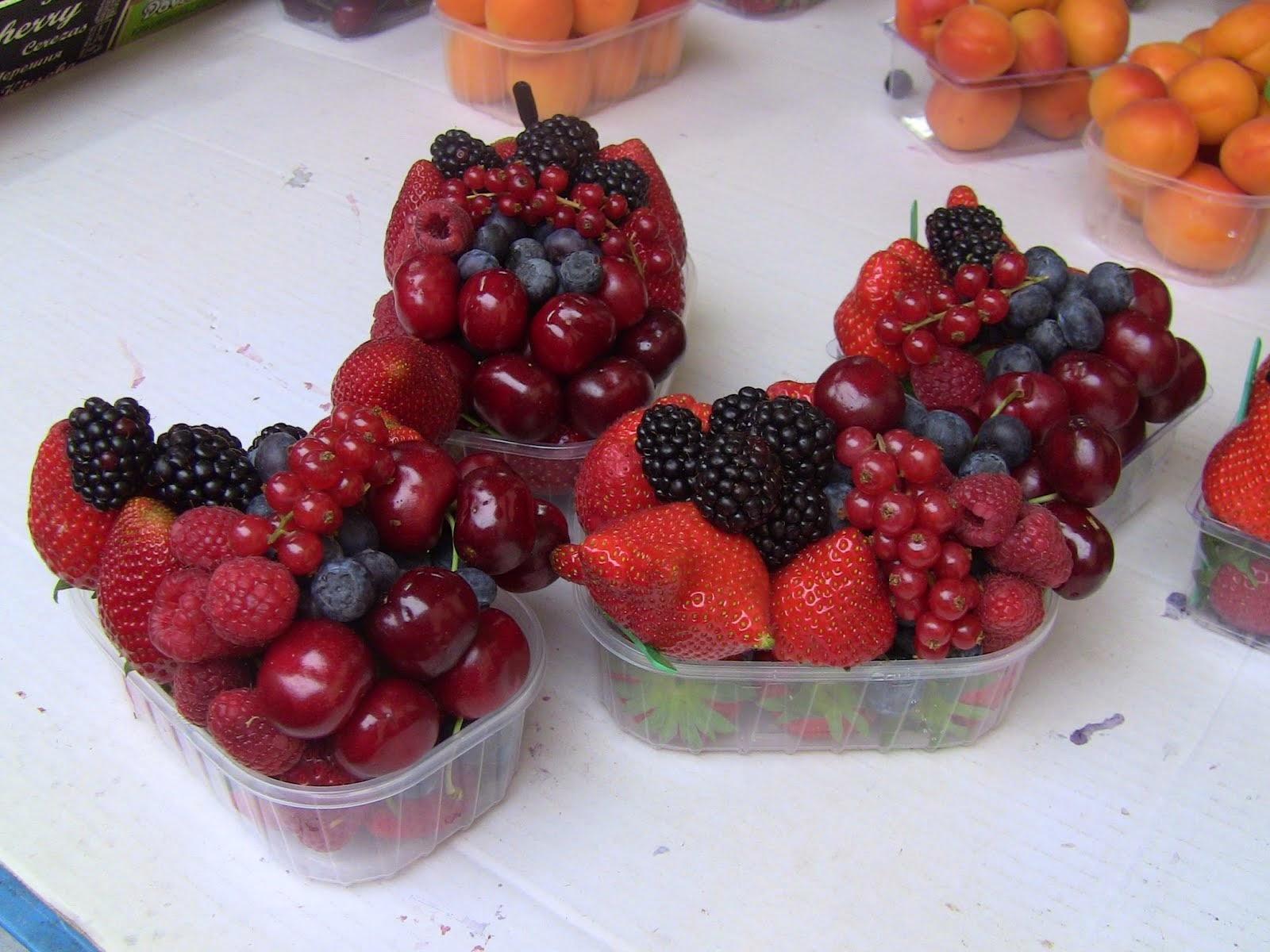 la barquette de fruits qui se vendait au marché de Prague aujourd'hui