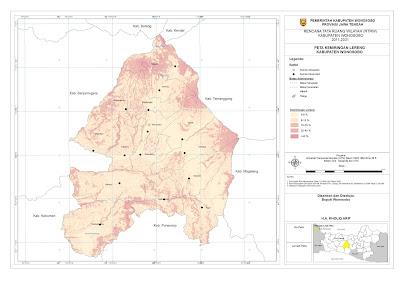 Peta Kemiringan Lereng Kabupaten Wonosobo