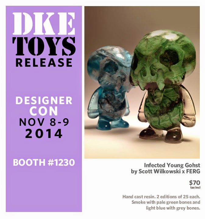 Designer Con 2014 Exclusive Infected Young Gohst Resin Figures by Scott Wilkowski & Ferg