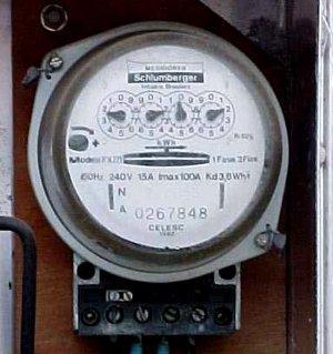 Relógio de energia elétrica