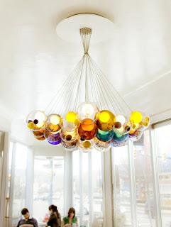 lampara forma de esfera