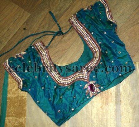 Maggam Floral Work Designer Blouses