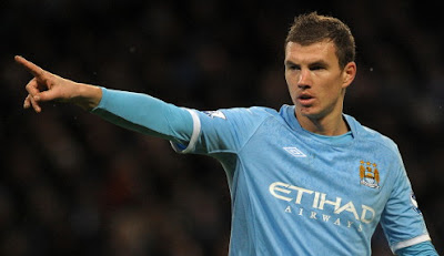 Edin Dzeko scored four goals for Man. City, such a fant
