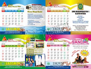 Desain Kalender Duduk 2