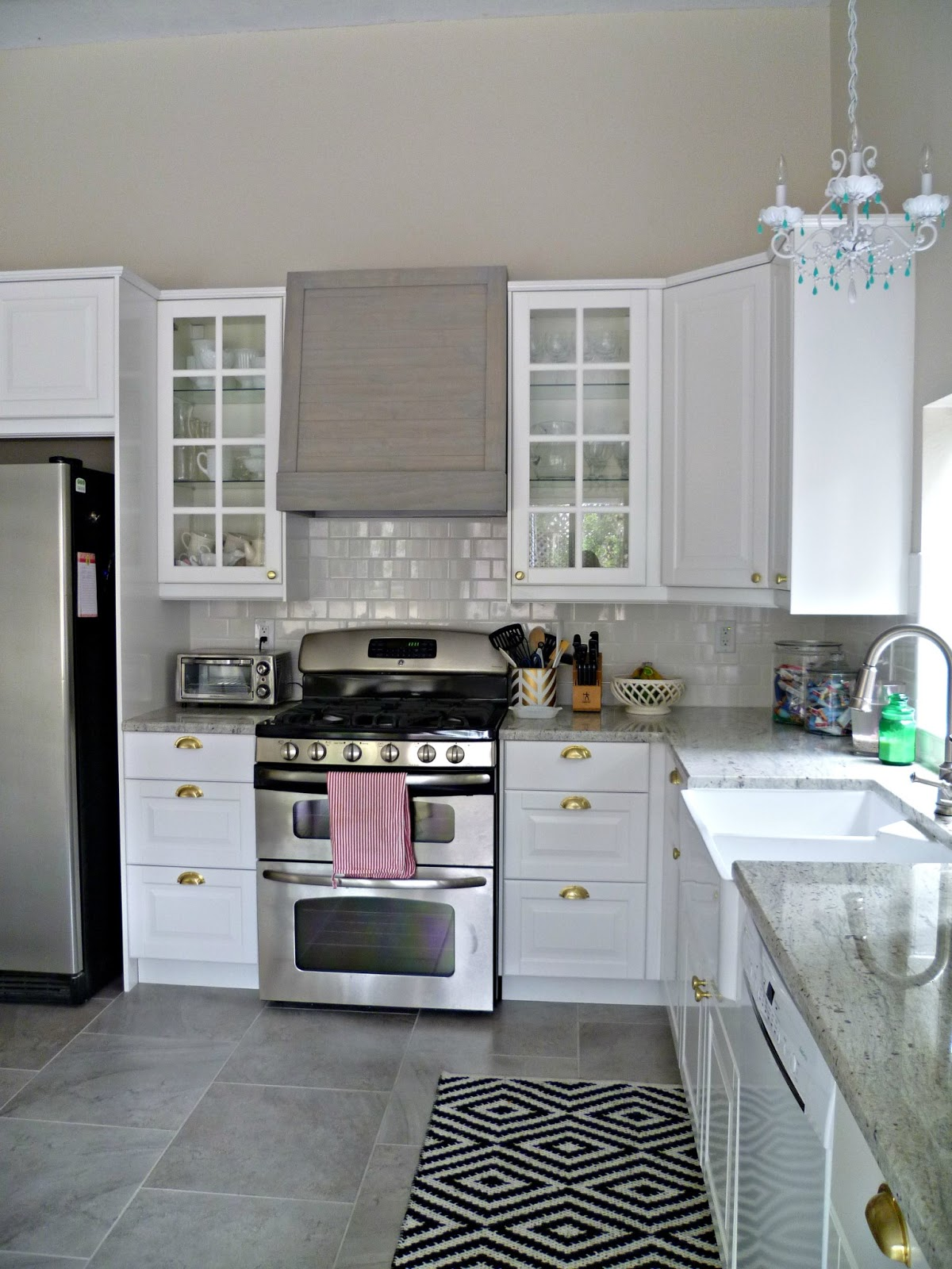 My third true love my new kitchen the reveal for What kind of paint to use on kitchen cabinets for teddy bear wall art