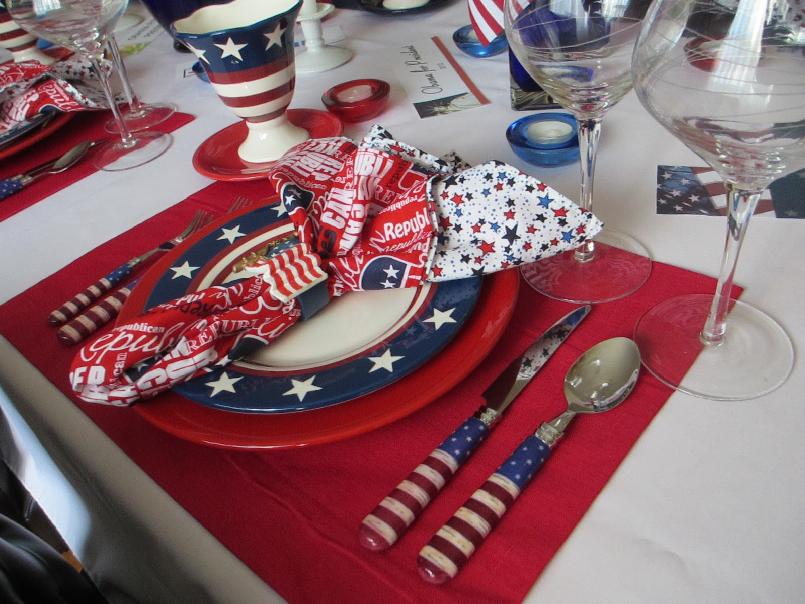 The Welcomed Guest My Fellow Americans Tablescape