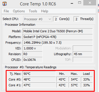 Cara Mengetahui Suhu/Temperatur Processor Komputer/Laptop Secara Akurat