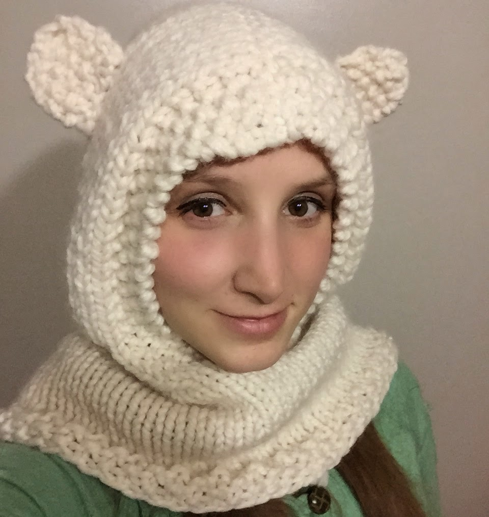 HOODIE COWL VIDEO TUTORIAL AND FREE PATTERN - iKNITS