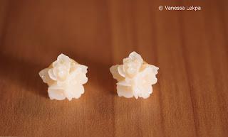 bijoux romantique plaqué or fleur