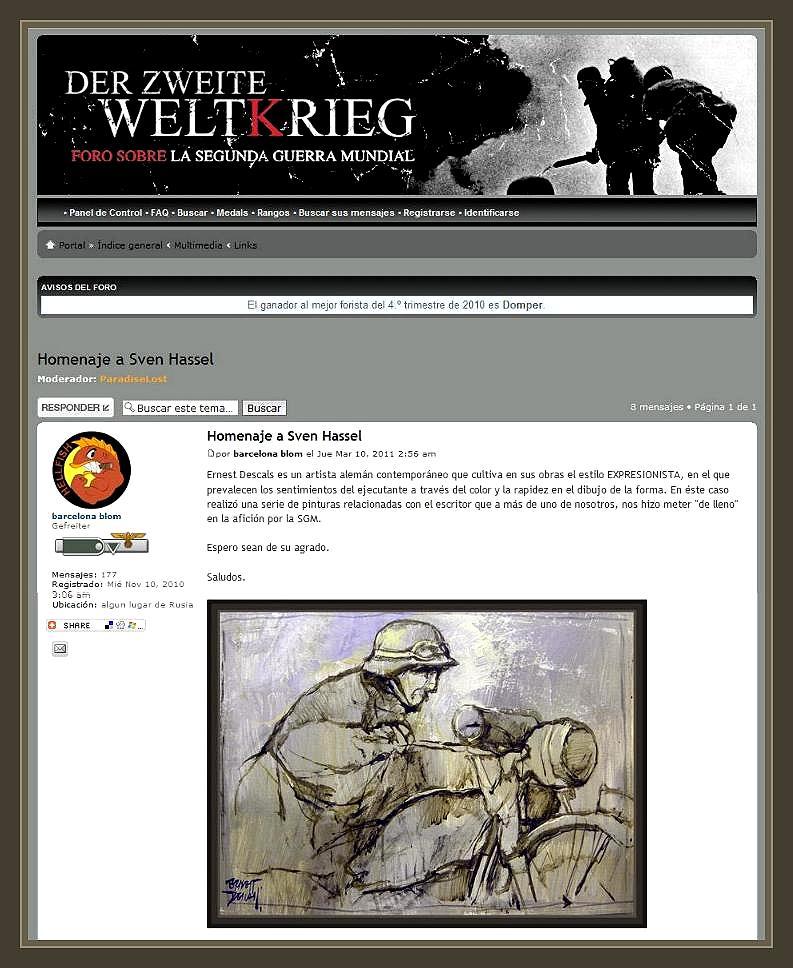SVEN HASSEL-PERSONAJES-PINTURAS-WW2-SOLDADOS-ALEMANIA-PINTOR-ERNEST DESCALS-