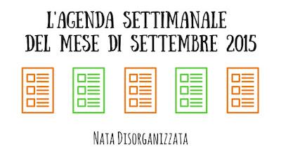 agenda settembre 2015 gratuita