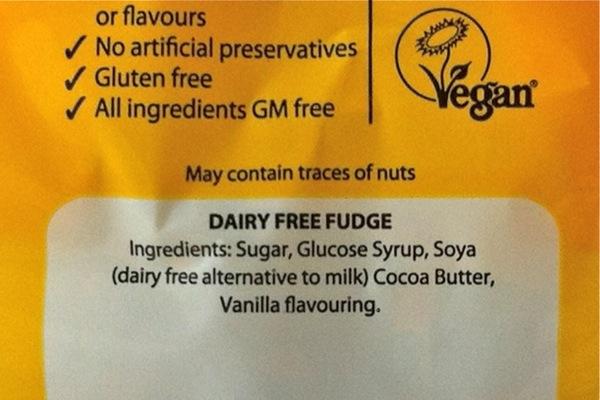 Fabulous Fudge Factory fudge ingredients