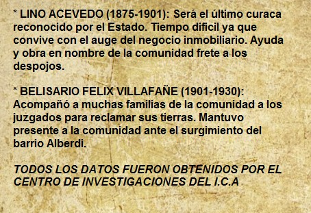 ULTIMOS CURACAS (1875-1930)