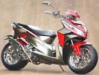 Modifikasi Honda Vario merah