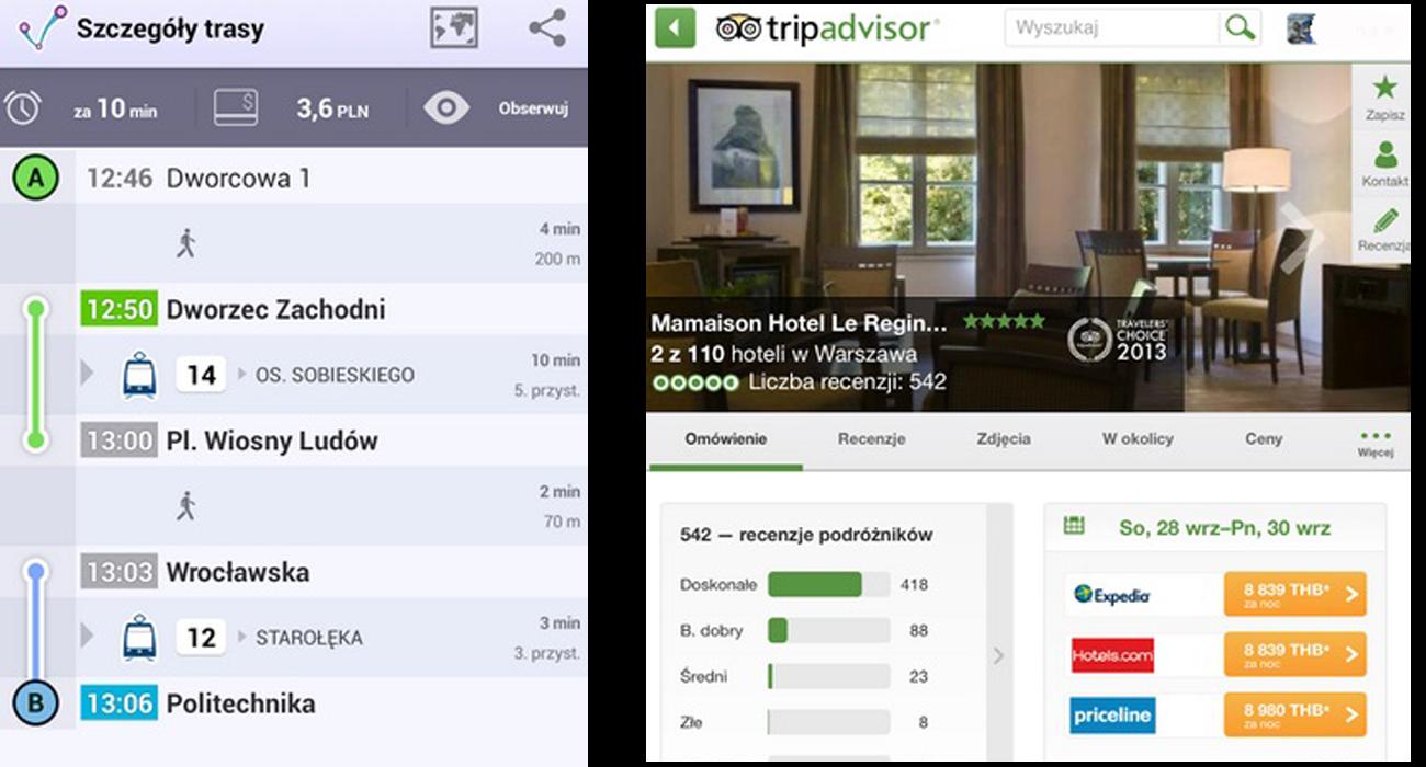 7 aplikacji turystycznych Jak dojadę TripAdvisor