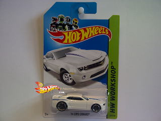 NEW 2014 HOT WHEELS HW WORKSHOP SERIES '14 COPO CAMARO WHITE