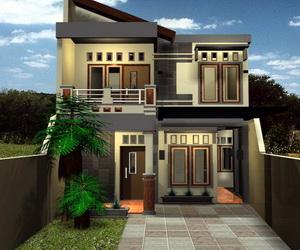 model desain rumah 2 lantai minimalis modern sederhana