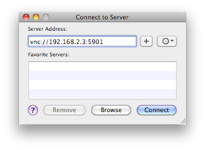 Mac OS X Finder connect to server