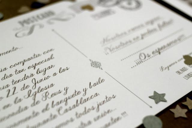 invitaciones de boda originales postal con foto hermanas bolena