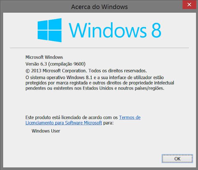 Acerca da versão Windows
