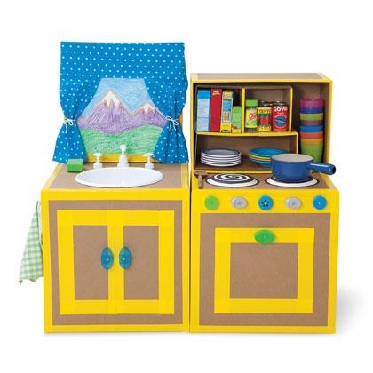 Cocina de cart n para ni os for Como hacer una cocina de carton