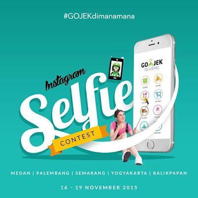 gojek jogja, gojek medan, gojek semarang, gojek palembang, gojek balikpapan, lomba selfie gojek