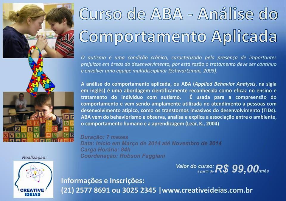 Curso de ABA - Análise do Comportamento Aplicada