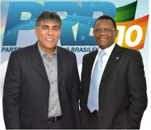 PRESIDENTE DO PRB EM PERNAMBUCO CARLOS GERALDO E O DEPUTADO OSSESIO SILVA