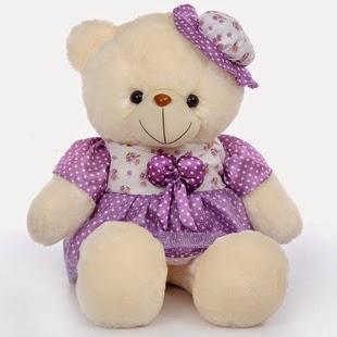 Gambar boneka teddy bear ungu