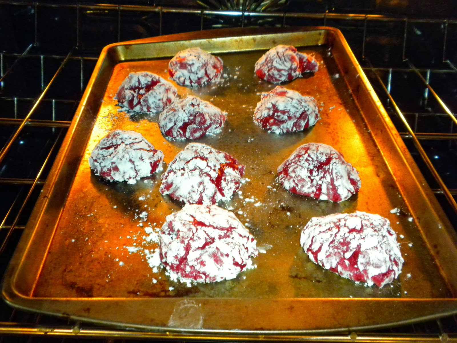 Red Velvet Crinkle Cookies by Substance of Living