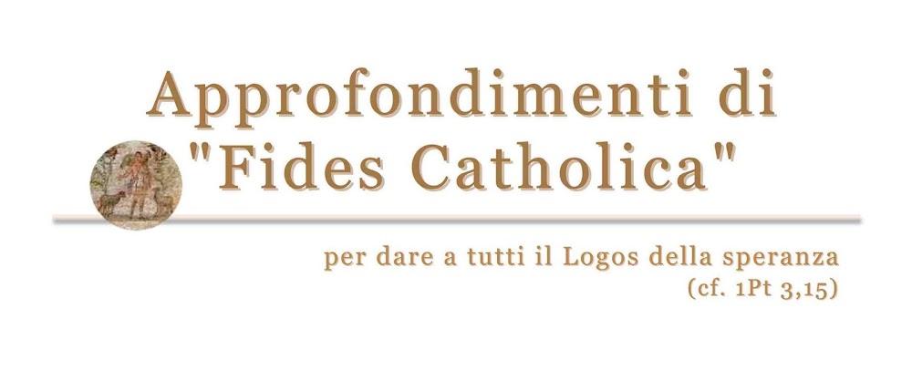 "Approfondimenti di ""Fides Catholica"""