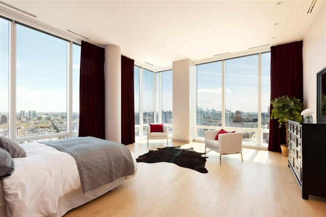 Photo of modern bed room in one of the most beautiful penthouses